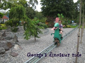 George's Dinosaur Ride at Peppa Pig World