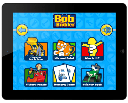Bob the Builder Play Time Fun Menu