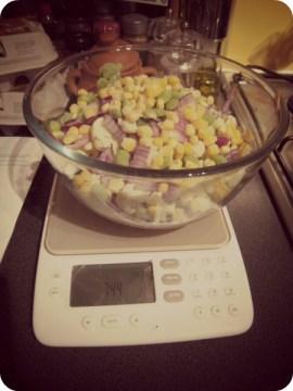 Prepping veg for the Soup Maker