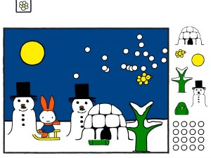 H's Miffy in the Snow Card
