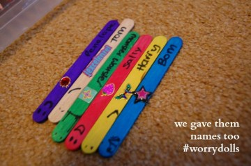 making simple worry dolls