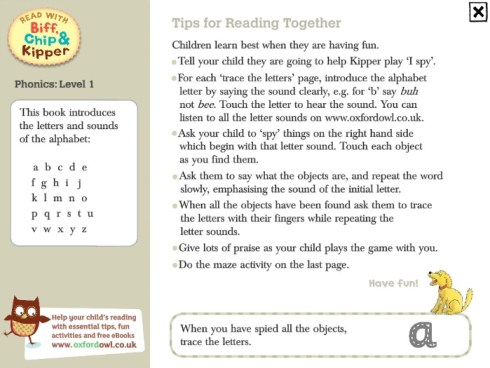 read with biff chip and kipper phonics tips