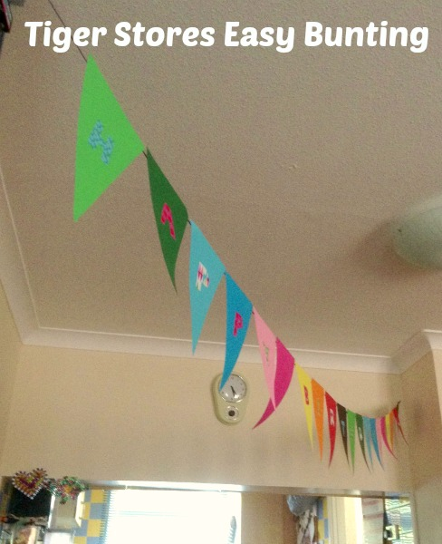 easy bunting from Tiger Stores