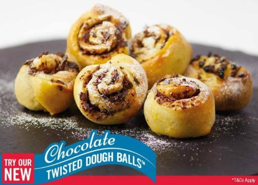 dominos chocolate twisted dough balls
