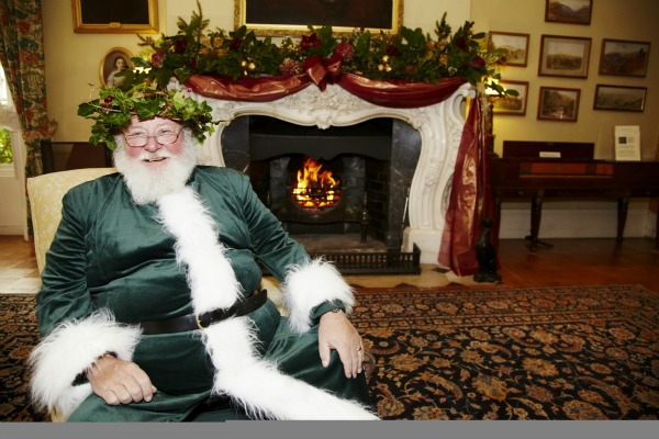 Father Christmas at Killerton, Devon ©National Trust Images, Arnhel de Serra National Trust Christmas