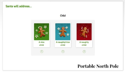 portable north pole video options
