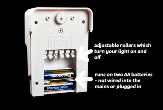 light switch timer - back