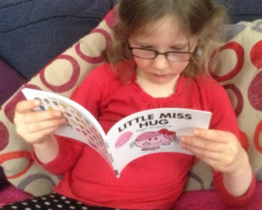 Reading Little Miss Hug
