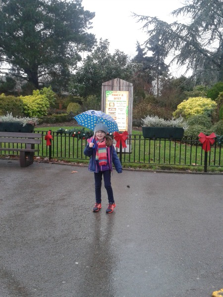 chessington in the rain