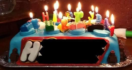 H's Lego birthday cake
