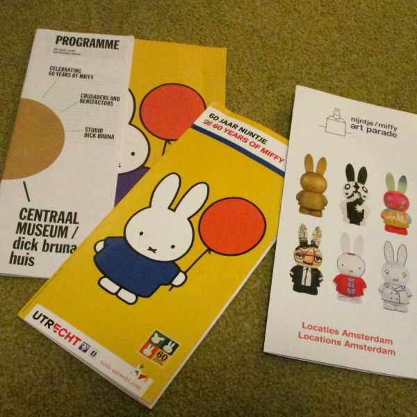 Miffy Art Parade maps for Utrecht and Amsterdam