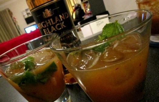 Aldi Spring and Summer Cocktail Grilled Peach Julep