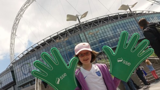 Wembley Stadium SSE giant sponge hands