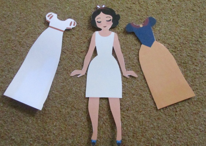BML16 touchnote laminated dress up doll