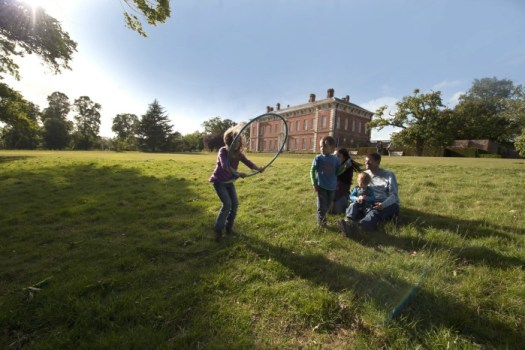 Visitors in the grounds to the south front of Beningbrough Hall, North Yorkshire. ©National Trust Images John Millar