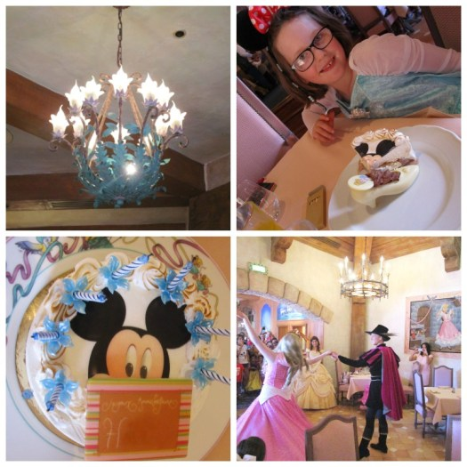 Auberge de Cendrillon dining and cake and dancing