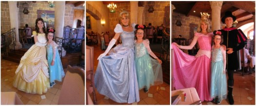 H meets the Disney Princesses at Auberge de Cendrillon