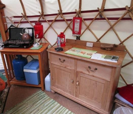 yurt food area