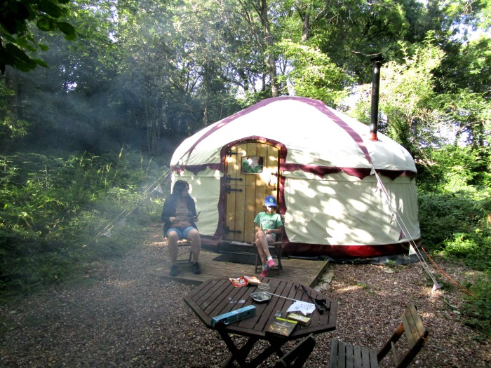 Yurt Life at Kingsdown Centre - wonderful setting!