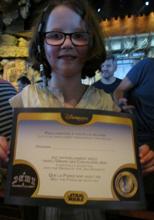 Jedi Training Academy H and certificate