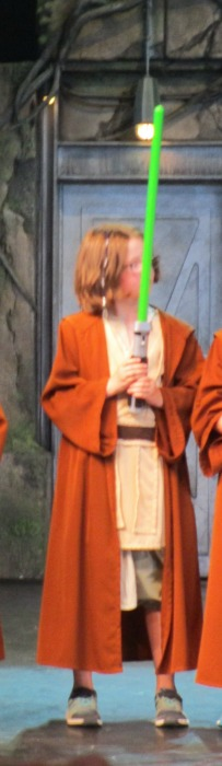 Jedi Training Academy Jedi H with lightsaber