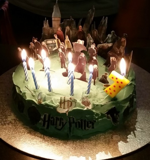 Harry Potter Fantastic Beasts themed party birthday cake