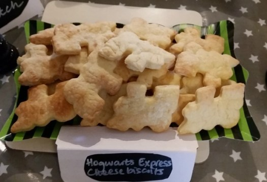 Harry Potter Fantastic Beasts themed Hogwarts Express cheese biscuits