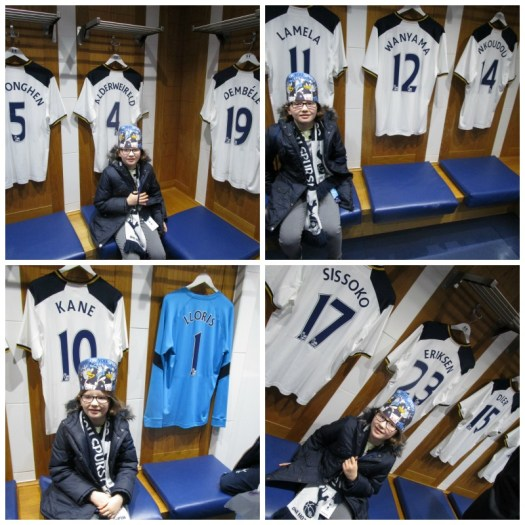 Father Christmas Stadium Tour at Tottenham home dressing room