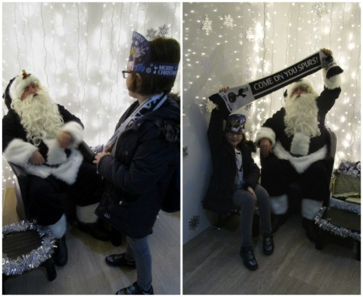 Father Christmas Stadium Tour at Tottenham meeting Santa