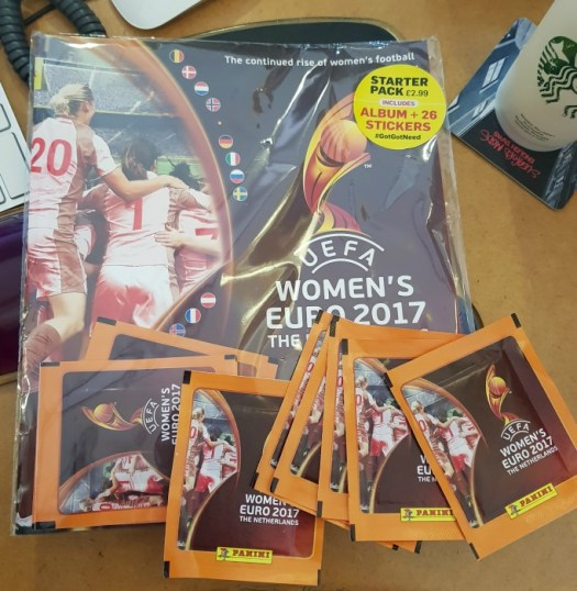 UEFA Womens Euro 2017 Panini Sticker Book starter pack