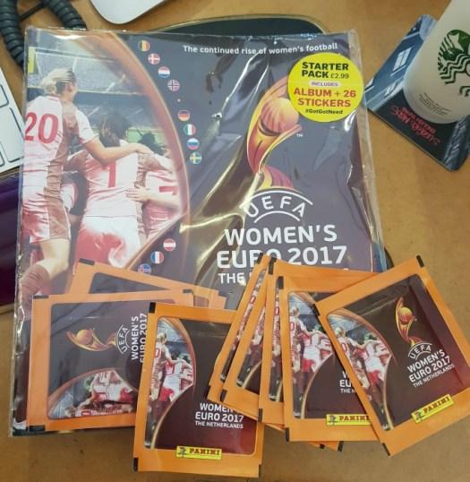 UEFA Womens Euro 2017 Panini Sticker Book starter pack