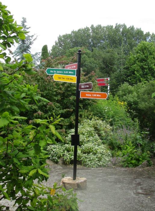 Lullingstone Castle World Garden sign