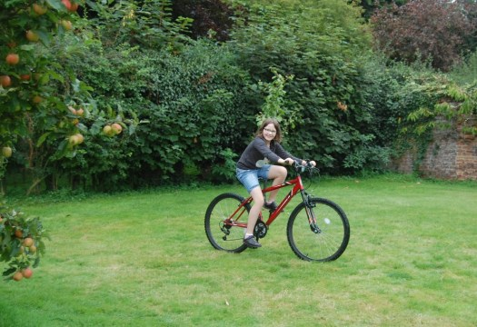bike riding Woodpecker Yurt, Essex
