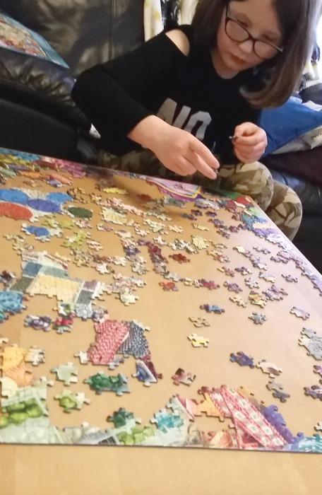 doing the Ravensburger make it medley jigsaw