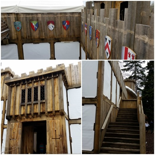 Hever Castle Tudor Towers Adventure Playground outside