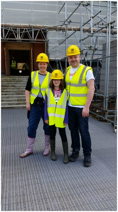 Hi vis and hard hats to see inside Clandon Park