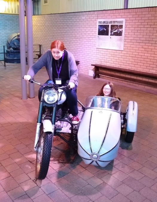 motorbike and sidecar WB Studio Tour