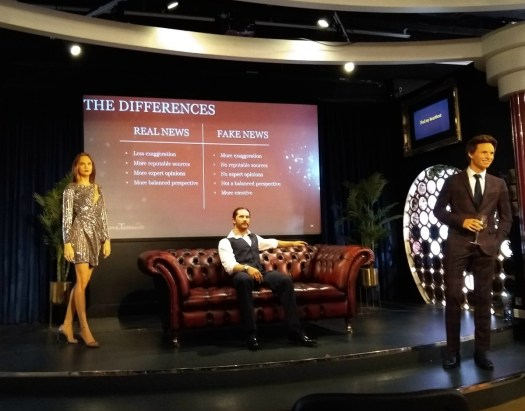 Madame Tussauds Fake News Workshop - The Differences