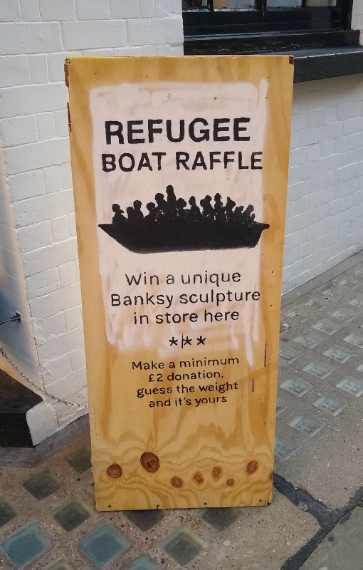 Banksy Boat Raffle at Choose Love - Help Refugees