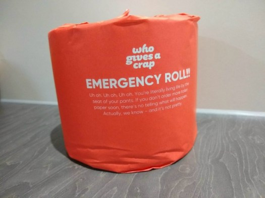 Who Gives a Crap emergency roll