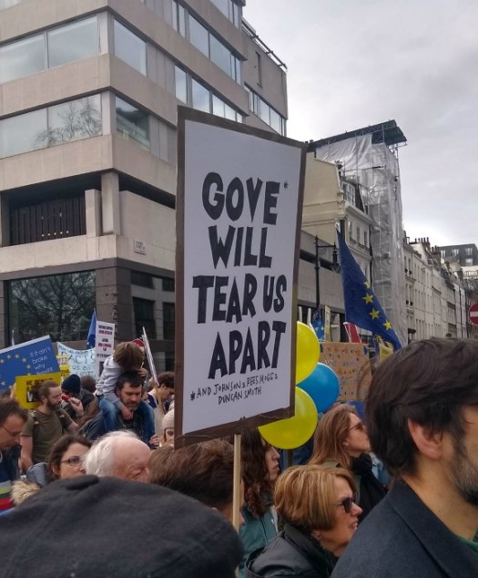 People's Vote 2019 Gove Will Tear Us Apart