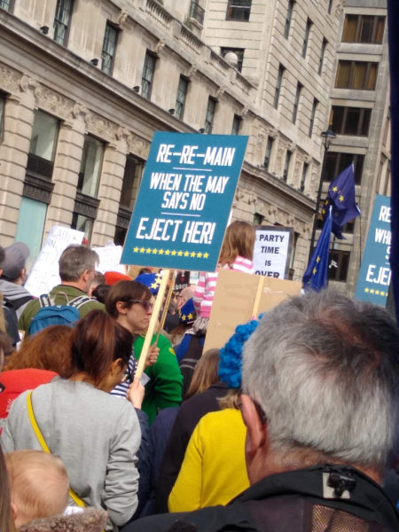 People's Vote March in London, 2019