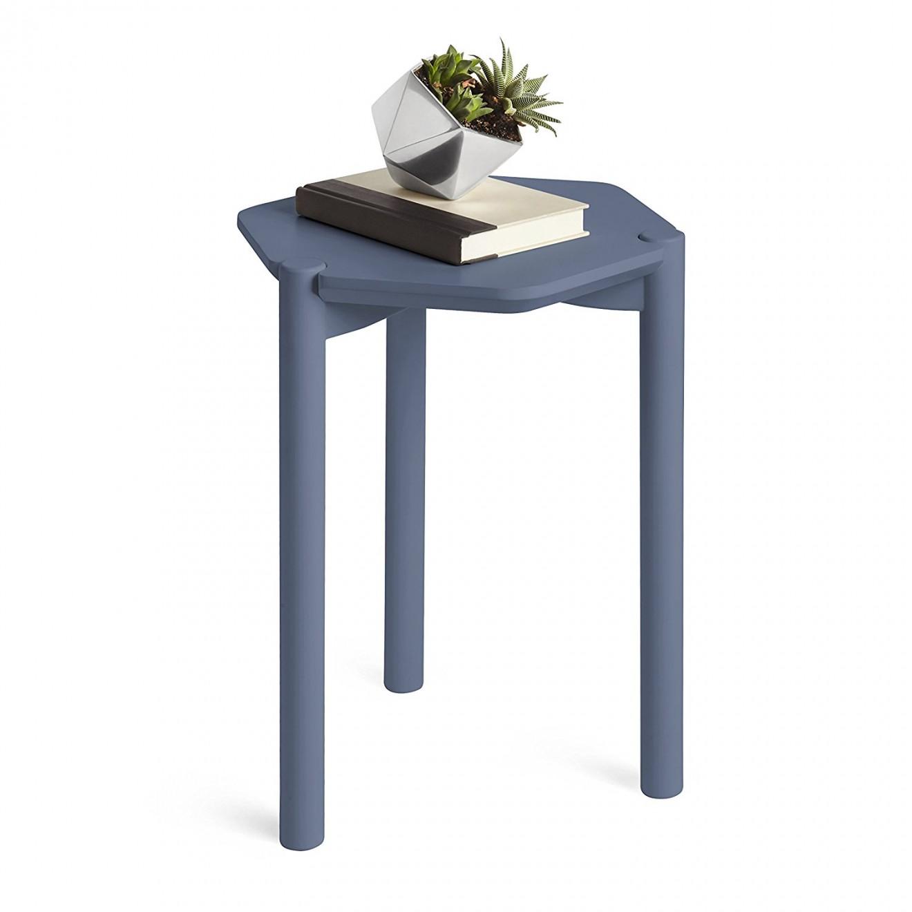 Mesa Lateral Hexa Azul  Mveis  Design por Wesley Chau
