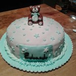 Bear cake for new baby boy