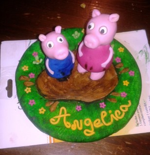 Cake Topper Peppa Pig e George