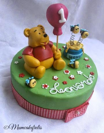 Winnie the Pooh cake toppers, Classic winnie, first birthday Winnie The Pooh Cake Toppers, honey & bees