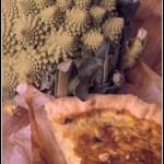 Torta con broccolo romano