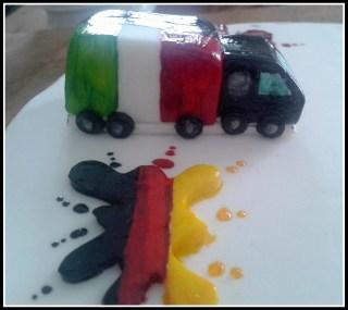 camioncino  camion in pasta di zucchero Germania Italia