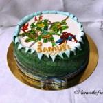 Spiderman e Ninja Turtle Cake per Samuel