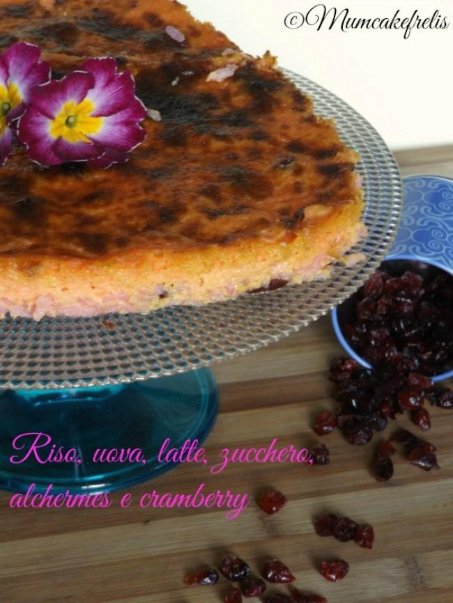 riso latte uova zucchero alchermes cramberry